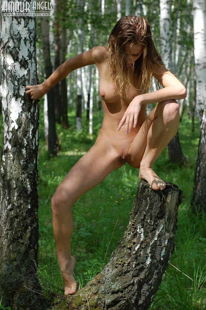 nude nymph Forest wood