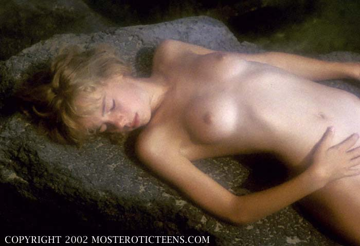 Hot blonde teen nymph in
