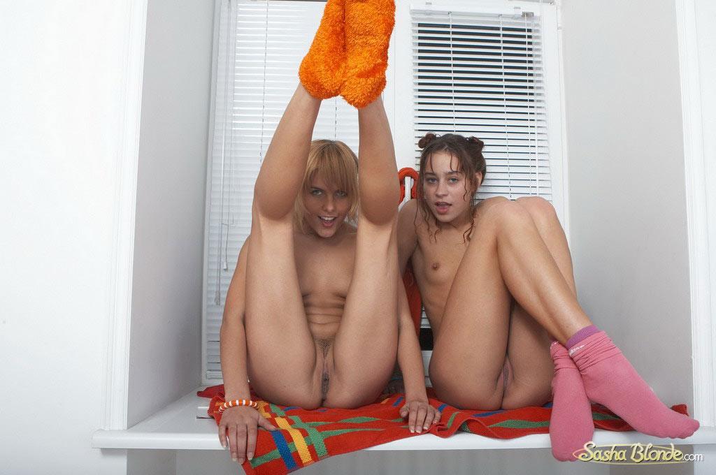 Naked teen on bed sleeping